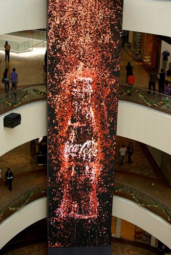 آبشار دیجیتال کوکاکولا ! + عکس