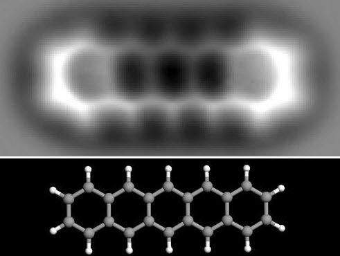 molecular bonds in a Pentacene molecule