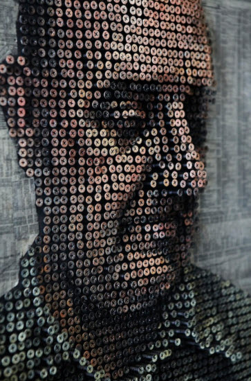 Andrew Myers' 3D Portrait Made of Thousands of Screws
