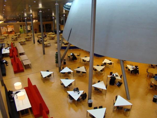 سالن مطالعه,کتابخانه دلف