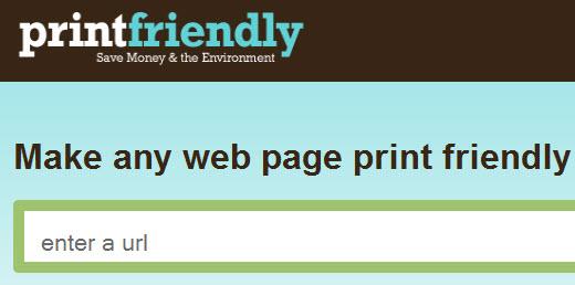نرم افزار printfriendly