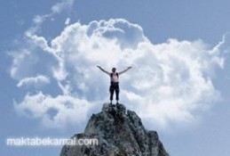 10 Apr 2012 --- Man on top of a mountain. --- Image by © Ben Welsh/Corbis
