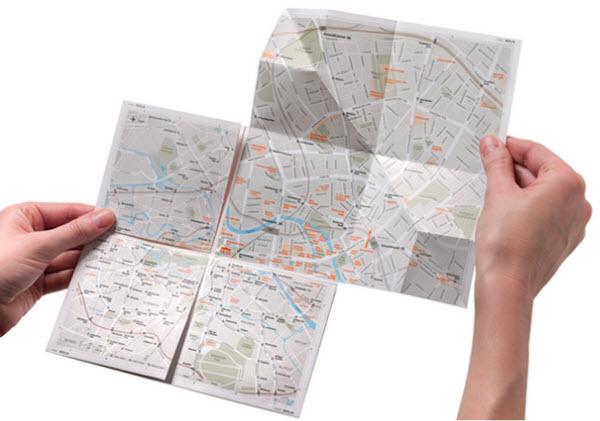 ایده ساده: نقشه کاغذی که میتوان روی آن زوم کرد - یک پزشک