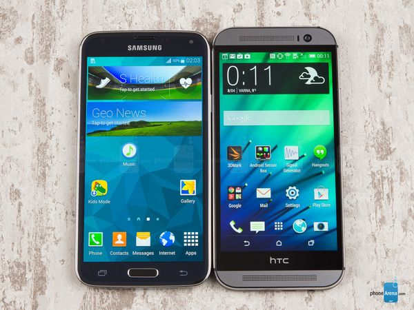 1Samsung Galaxy S5 vs HTC One (M8