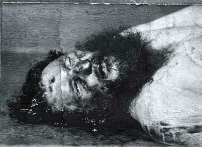 Post-mortem photograph of Rasputin