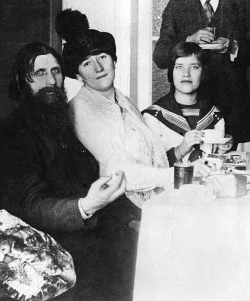Rasputin (left) and his daughter