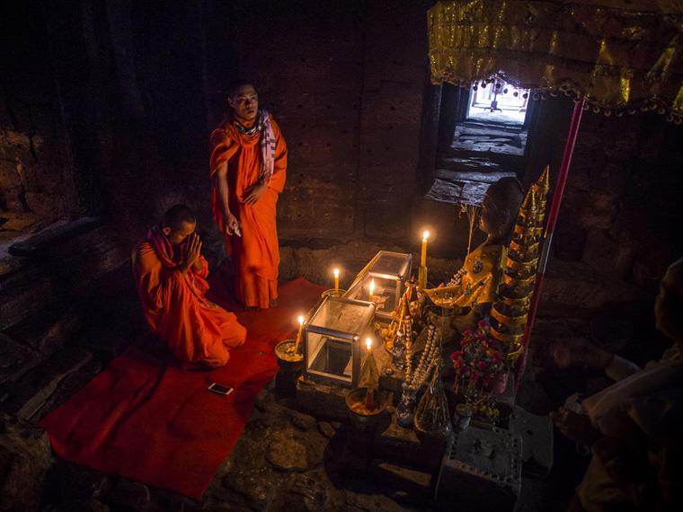 Early Morning At Angkor Wat In Cambodia