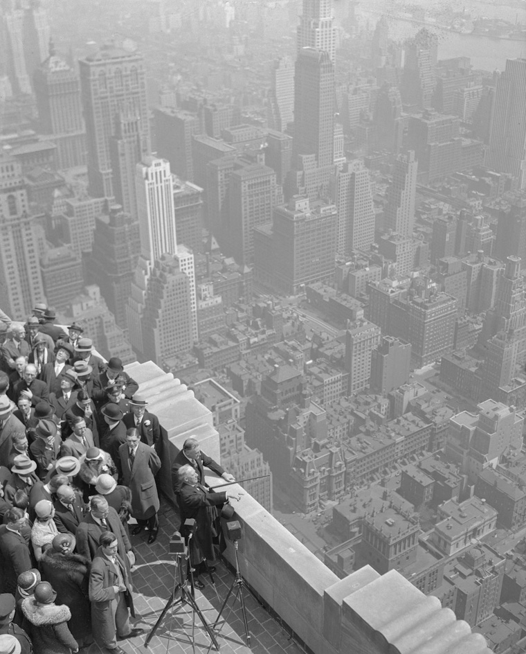 Empire State Building Dedication Ceremonies on Rooftop