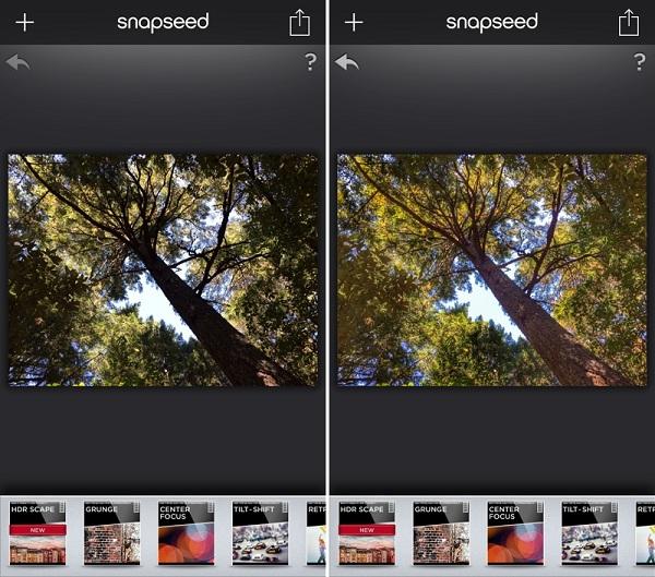 snapseed1 چگونه با گوشی عکسهای بهتری بگیریم