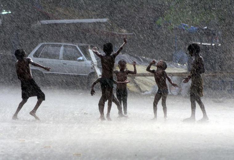 Monsoon Rain Soaks India