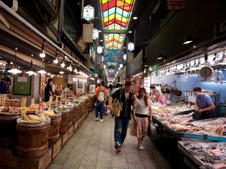 nishiki-market-also-known-as-kyotos-kitchen-is-a-400-year-old-market-that-spans-five-blocks-of-over-100-shops-and-restaurants-its-a-treasure-trove-of-rare-delicacies-and-unusual-foods
