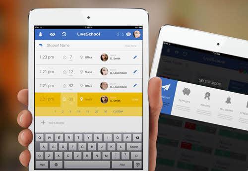 اپلیکیشن آی پد LiveSchool طراحی شده توسط Rossul Design