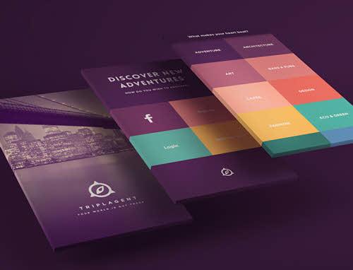 TriplAgent طراحی بصری با ترکیب رنگی خیره کننده