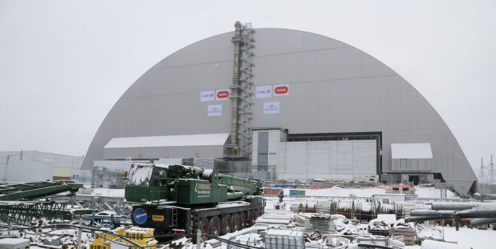 محافظ عظیم نیروگاه ویرانشده چرنوبیل نصب شد، یکی از بزرگترین بناهای پیشساخته ساخت بشر+ ویدئو