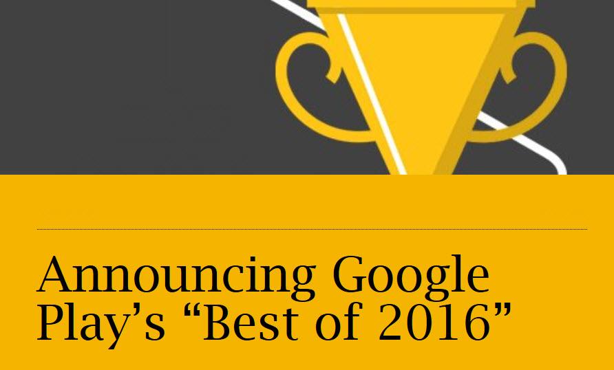 گوگل برترین اپلیکیشنهای گوگل پلی را در سال 2016 معرفی کرد