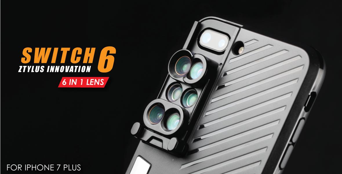 کیسی برای آیفون 7 پلاس با 6 لنز کمکی: Switch 6