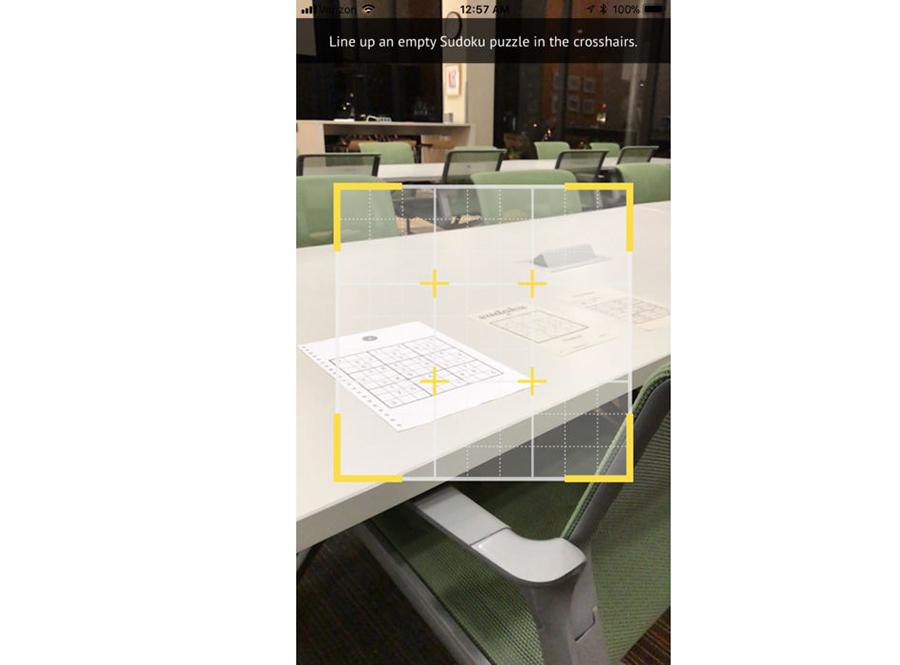با دوربين آيفون و اپليکيشن واقعيت افزوده جدول سودوکو حل کنيد