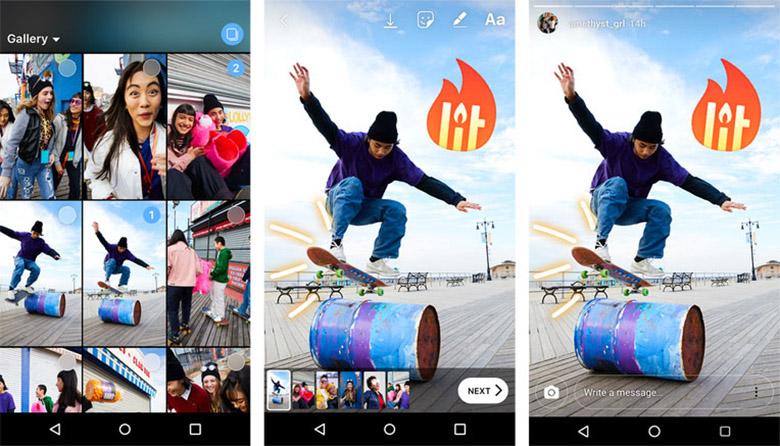 قابلیتهای مهم پشتیبانگیری از حساب کاربری و ارسال همزمان چند عکس و ویدیو روی استوری به اینستاگرام افزوده شدند