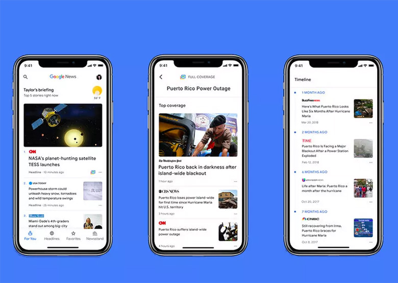 اپلیکیشن «گوگل نیوز» مبتنی بر هوش مصنوعی برای اندروید و iOS منتشر شد