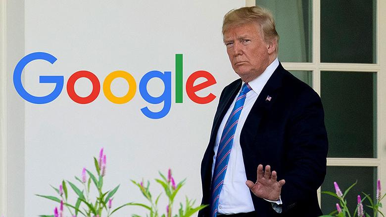 ترامپ از گوگل در مقابله اتحادیه اروپا حمایت کرد ولی همزمان گوگل ترامپ را احمق نشان میدهد