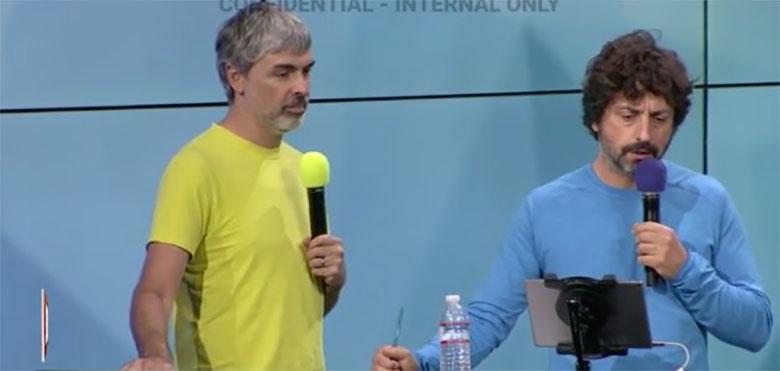 Larry Page and Sergey Brin - موج نشتهای اطلاعاتی بر ضد گوگل دارد این شرکت را وادار به پایان دادن فرهنگ باز میکند